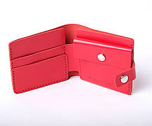 Шкіряний гаманець «Gazda Red» жіночий Червоний (11x9,5 см) ручної роботи