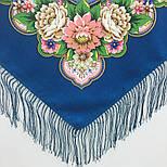 Южное солнце 1652-12, павлопосадский платок шерстяной (двуниточная шерсть) с шелковой бахромой, фото 4