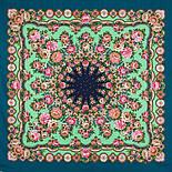 Южное солнце 1652-12, павлопосадский платок шерстяной (двуниточная шерсть) с шелковой бахромой, фото 3