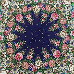 Южное солнце 1652-12, павлопосадский платок шерстяной (двуниточная шерсть) с шелковой бахромой, фото 7