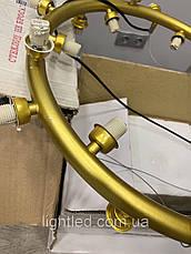 Золотая люстра с 21 белым шаром, фото 3