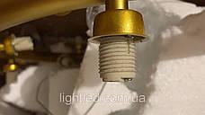 Золотая люстра с 21 белым шаром, фото 2