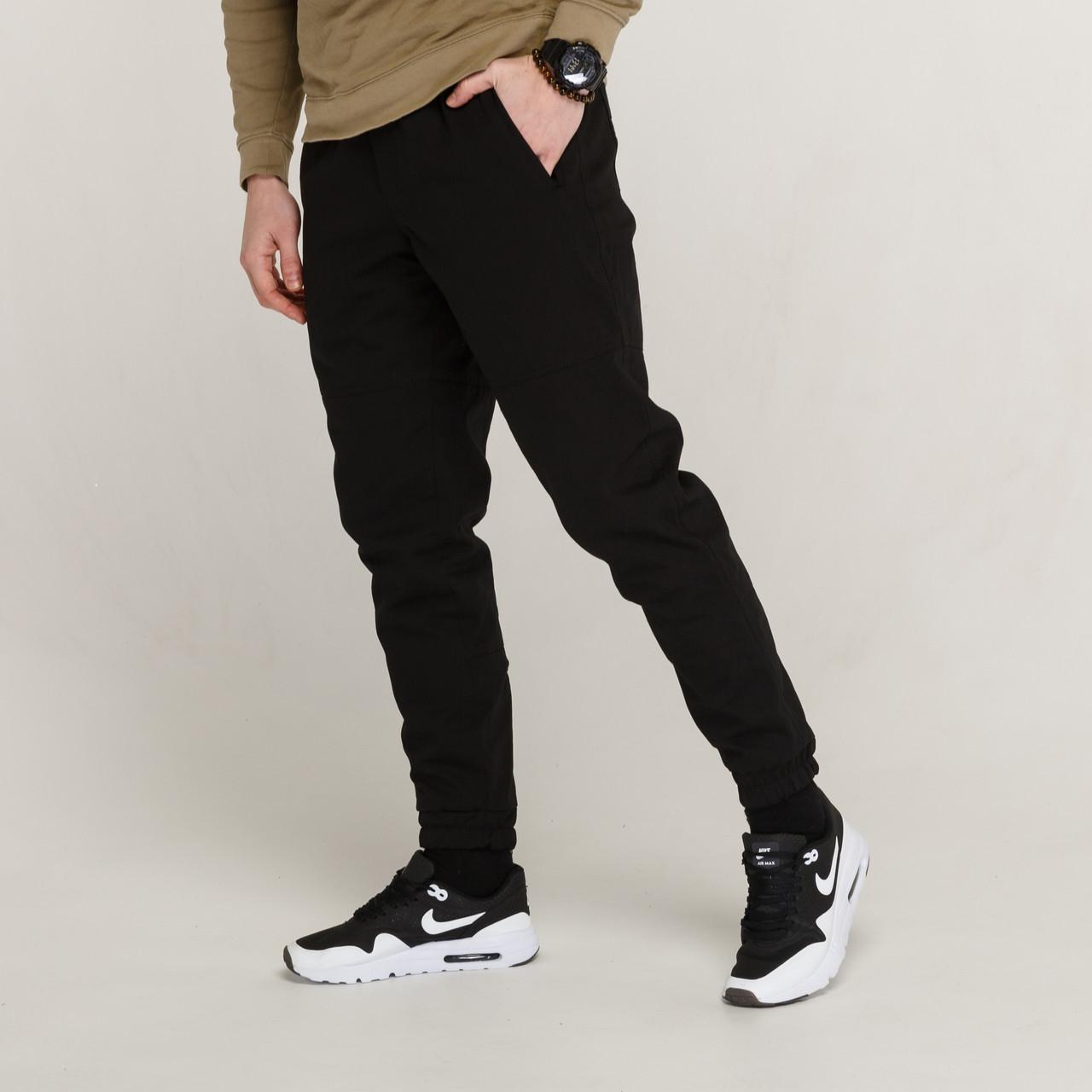 Зимние штаны карго на флисе мужские черные бренд ТУР модель Грут (Groot)
