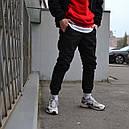 Зимние штаны карго на флисе мужские черные бренд ТУР модель Грут (Groot), фото 7