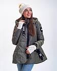 Зимова Куртка Топ Стиль Oversize Фабричний Китай Розмір 42-44 в наявності, фото 2