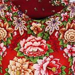 Южное солнце 1652-3, павлопосадский платок шерстяной (двуниточная шерсть) с шелковой бахромой, фото 6