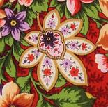 Южное солнце 1652-3, павлопосадский платок шерстяной (двуниточная шерсть) с шелковой бахромой, фото 9
