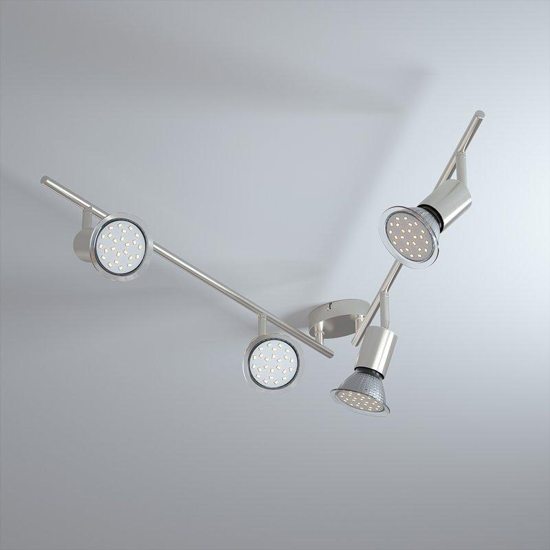 Светодиодная настенная, потолочная лампа Amaryllis 4-ARM