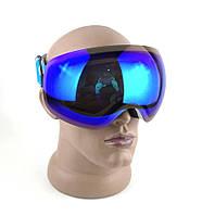 Очки для сноуборда и лыж BeNice (МГ-1011) Белый корпус, Синяя линза