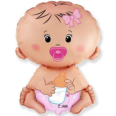 Фольгированный шар ФМ Малыш девочка