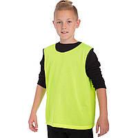 Манишка-накидка футбольная подростковая в сетку, PL, р-р S,M-50х57см., зеленый (CO-5541-(gr))