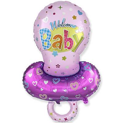 Фольгированный шар ФМ Соска для девочки