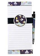 M18-470714, Блокнот-магнит на холодильник, , белый-фиолетовый