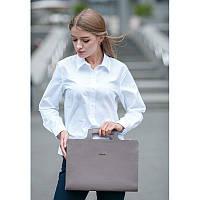 Женская кожаная сумка для ноутбука и документов темно-бежевая, фото 1