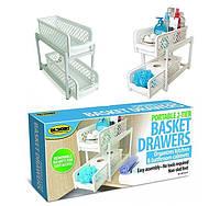 Органайзер Portable 2 Tier Basket Drawers, фото 1