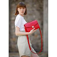 Женская кожаная сумка-кроссбоди Lola красная, фото 1