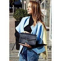 Женская кожаная сумка-кроссбоди Lola темно-синяя, фото 1