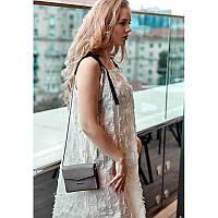 Женская кожаная сумка поясная/кроссбоди Mini темно-бежевая, фото 1