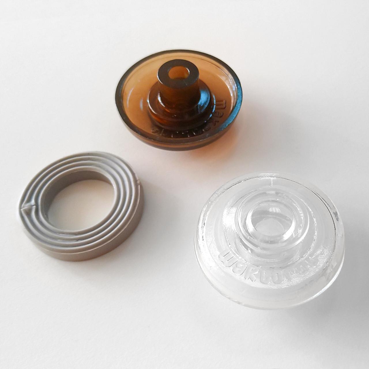 Термошайба Makrolon с резиновым кольцом, прозрачная, с ножкой 6 мм