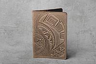 """Обложка для паспорта, обложка из натуральной кожи с тиснением """"Культ предков"""", фото 1"""