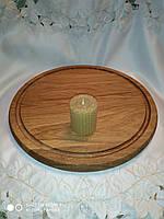 Свеча из пчелиного воска, медовая 5 см. D - 5 см. из натуральной вощины
