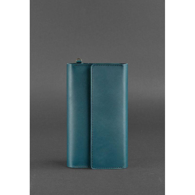 Кожаный клатч-органайзер (Тревел-кейс) 5.1 зеленый