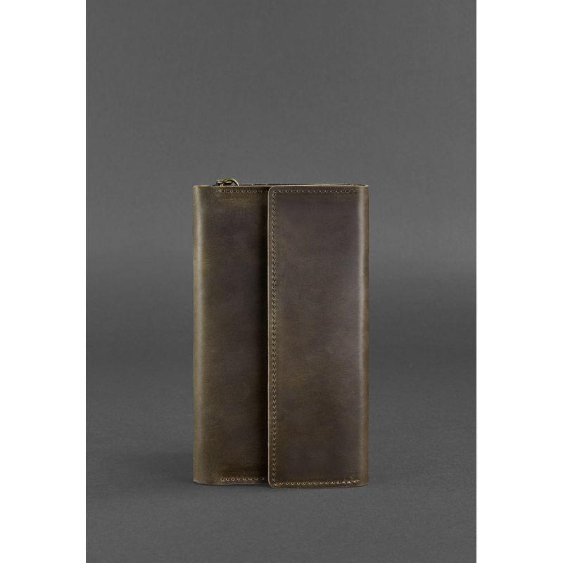 Кожаный клатч-органайзер (Тревел-кейс) 5.1 темно-коричневый