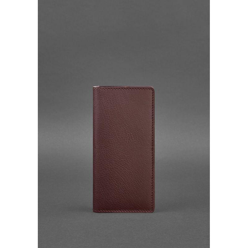 Кожаное портмоне-купюрник 11.0 бордовое