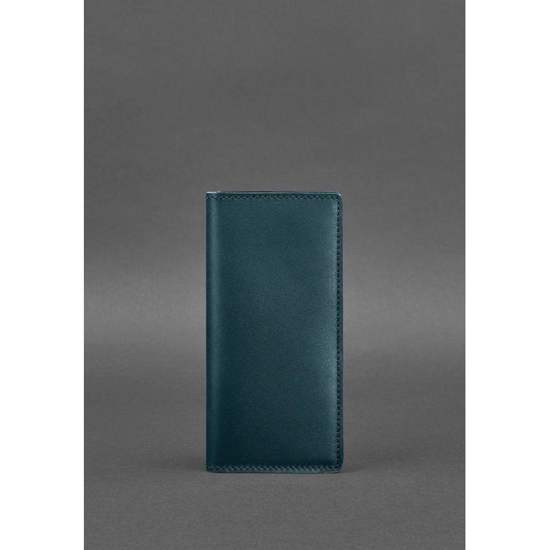 Кожаное портмоне-купюрник 11.0 зеленое