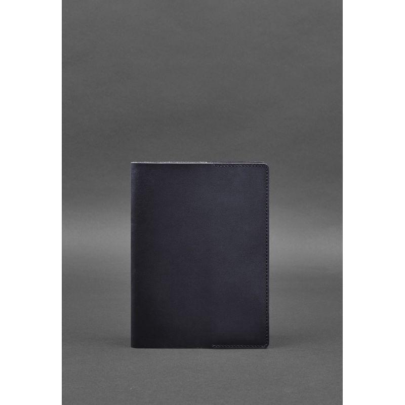 Кожаная обложка для блокнота 6.0 (софт-бук) синяя
