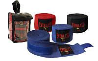 Бинты боксерские (2шт) хлопок ELAST (l-3м, цвета в ассортименте)
