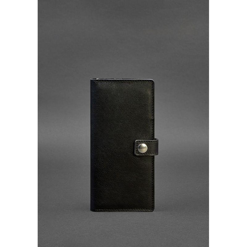 Кожаный Тревел-кейс (органайзер для документов) 6.0 черный
