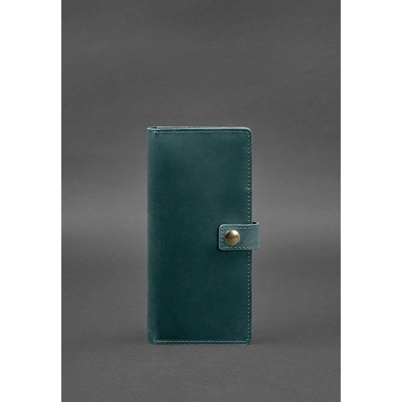 Кожаный тревел-кейс (органайзер для документов) 6.0 зеленый