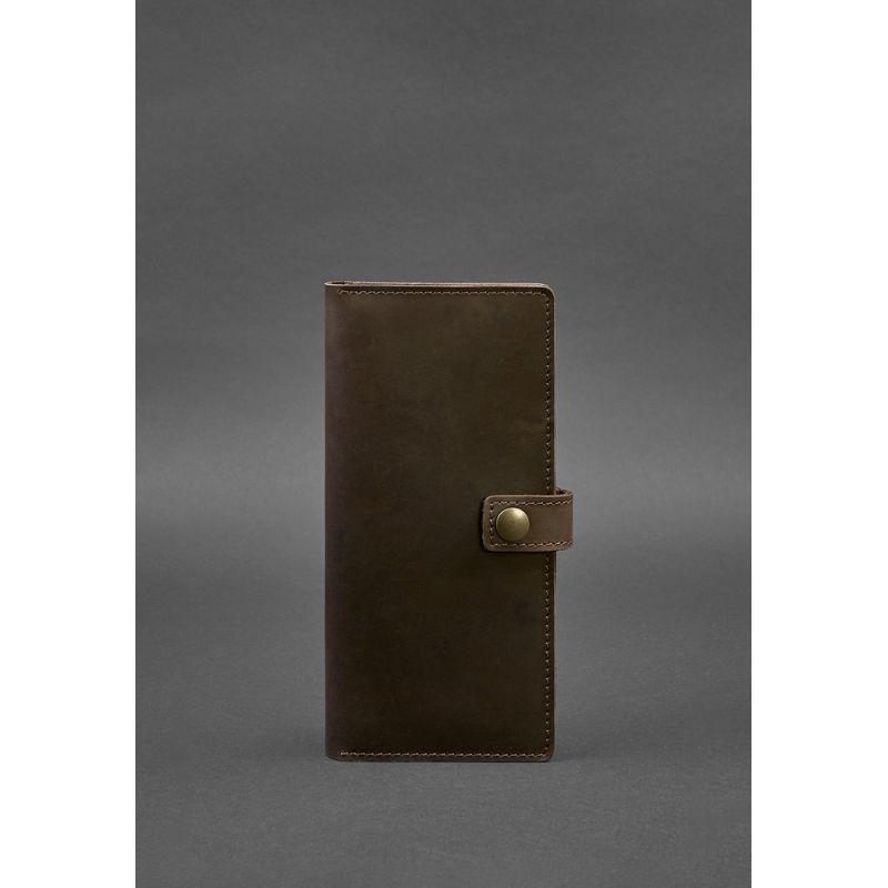 Кожаный Тревел-кейс (органайзер для документов) 6.0 темно-коричневый