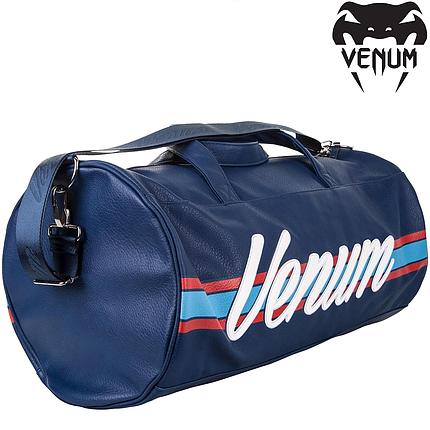 Спортивная сумка для тренировок Venum Martini Sports Bag Black Dark Blue Red, фото 2