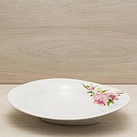 Блюдо для вареников белое с деколью, 30 см