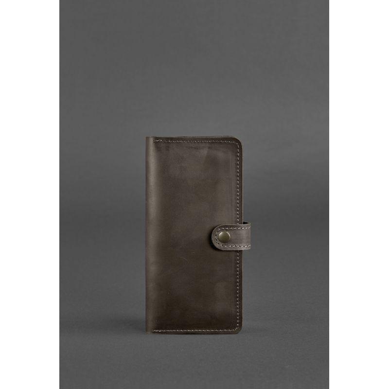 Кожаное портмоне 7.0 Темно-коричневое Crazy Horse