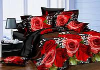 3D Полуторное постельное белье Amika чайная роза