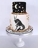 Топпер Козеріг, Козеріг на торт, Топпери знаки зодіаку, Топер Золотий Козеріг, Козеріг у блискітках на торт, фото 2