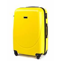 Дорожный средний чемодан Wings 310 на 4х колесах желтый
