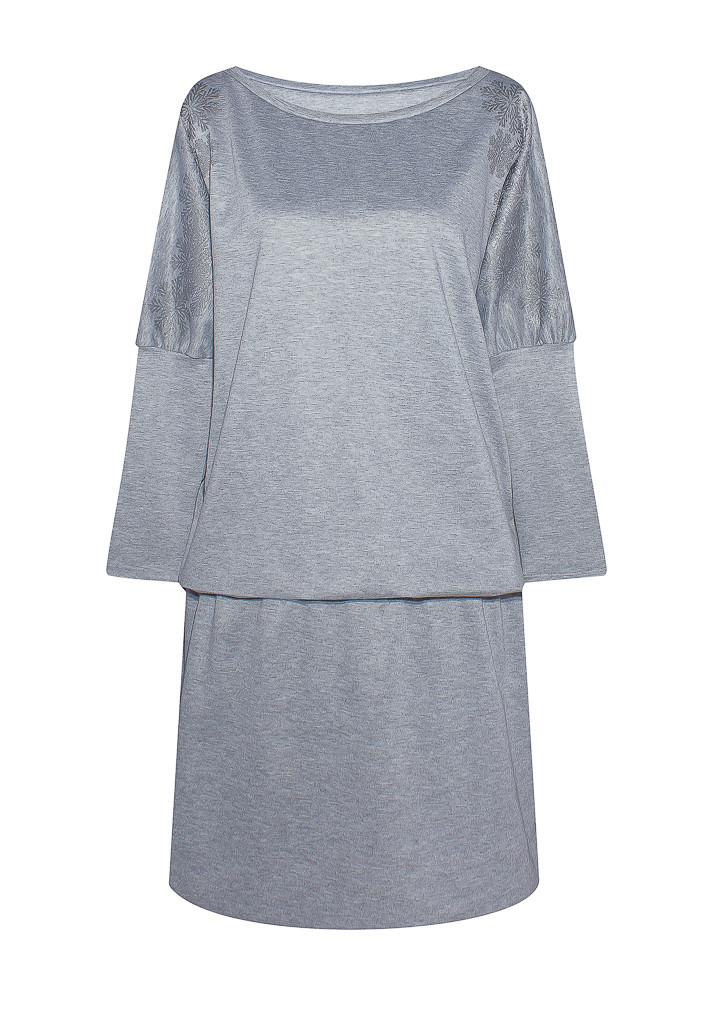 серое платье Метелица из французского трикотажа