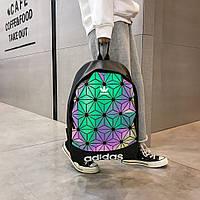 Рефлективный черный спортивный городской рюкзак Adidas Адидас