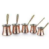 Турки (джезвы) для кофе Sena 5 шт. медные, фото 1