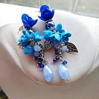 Синие серьги, фото 1