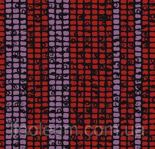 Flotex tibor 980412 Mosaic raspberry stripe