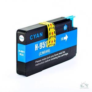 Совместимый картридж Inkdigo™ HP 951 XL Cyan , чернильный, голубой, 14 ml, аналог CN046AE