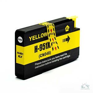 Совместимый картридж Inkdigo™ HP 951 XL Yellow, чернильный, жёлтый, 14 ml, аналог CN048AE (HP-951XY-2)