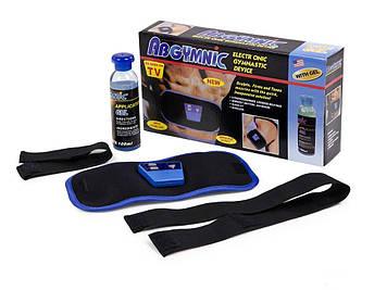 Масажер пояс міостимулятор для схуднення AbGymnic Blue (ip1293)
