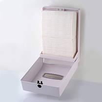 Диспенсер держатель листових паперових рушників Z W складання Rixo Grande P135W білий пластиковий ударостійкий, фото 3