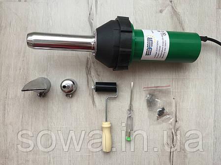 ✔️ Фен для зварювання пластика та паяння бамперів з насадками ( паяльник ) Euro Craft ECHG12, фото 2